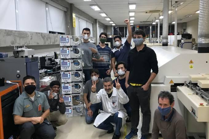 Equipe do respirador da USP (Arquivo Pessoal)