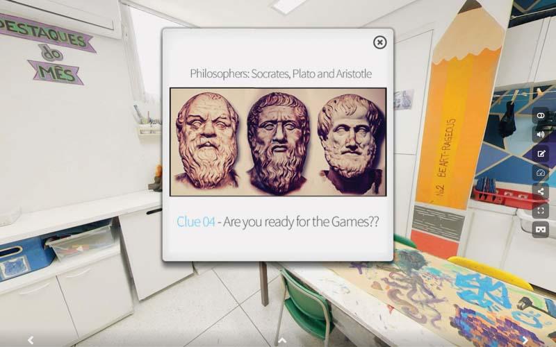 Grécia antiga: tema da caça ao tesouro virtual na escola