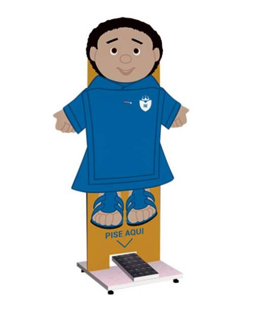 Colégio Santo Américo, no Morumbi: boneco para tornar higienização lúdica