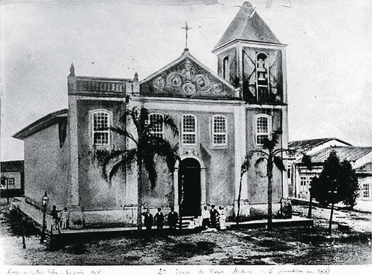 Igreja: incêndio em 1896