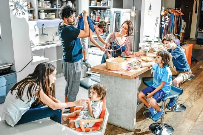 Mayra Abbondanza e família