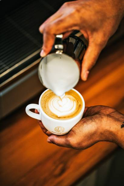Latte: café com leite cremoso