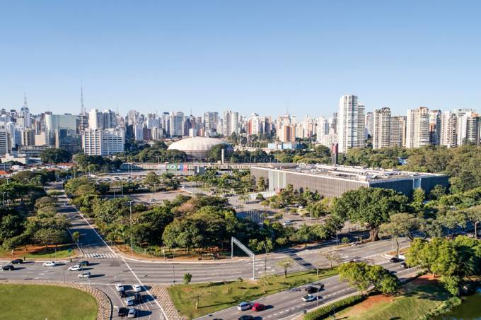 Ibirapuera in Sao Paulo city, Brazil.