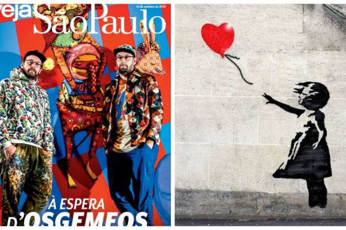 OSGEMEOS e Banksy: obras feitas em parceria estão em cartaz na Pinacoteca