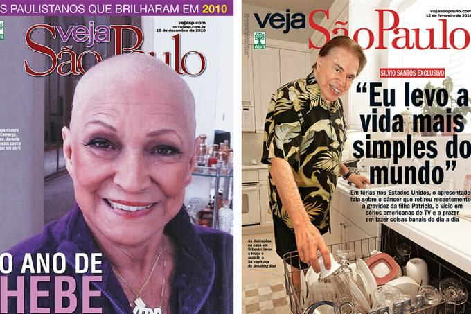 Capas Hebe e Silvio