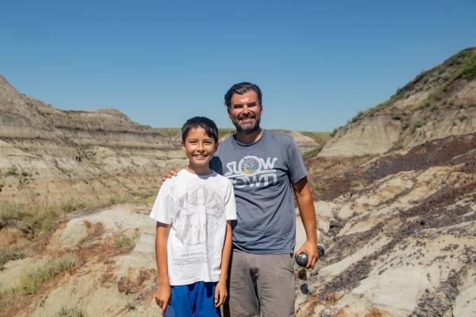 pai e filho fossil
