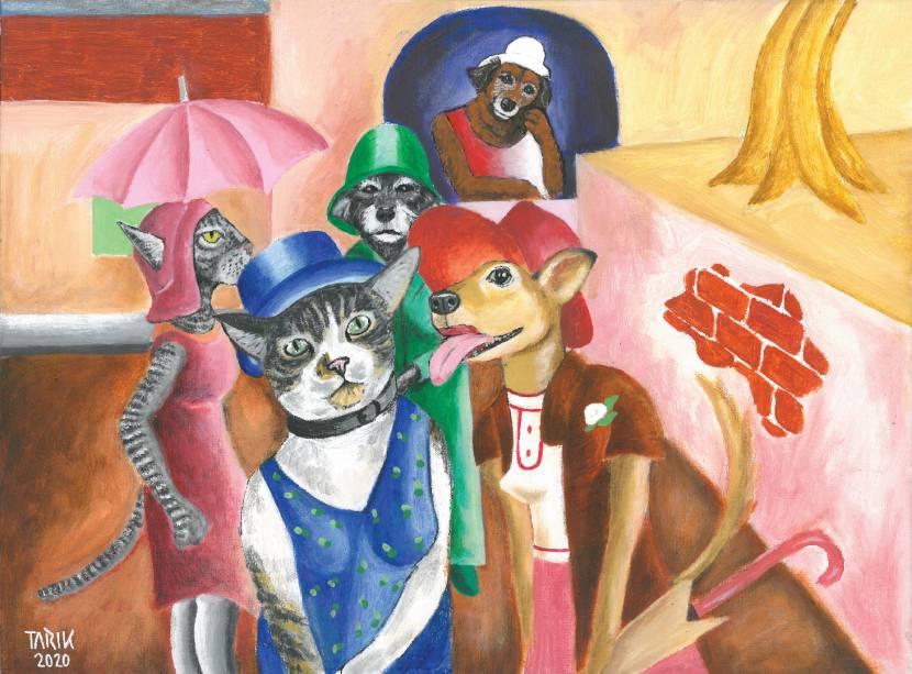 Cinco Moças de Guaratinguetá (1930), de Di Cavalcanti, estrelada por Laica, Bici, Rosa, Minigata e Flor