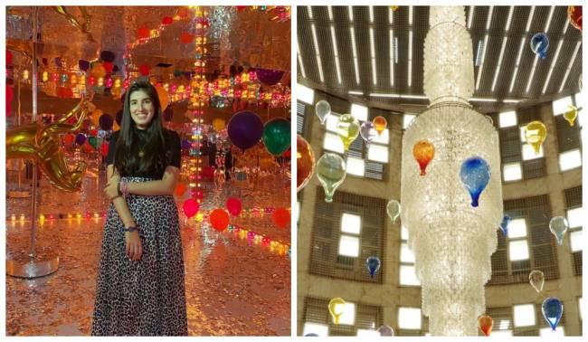 Balões no Farol Santander