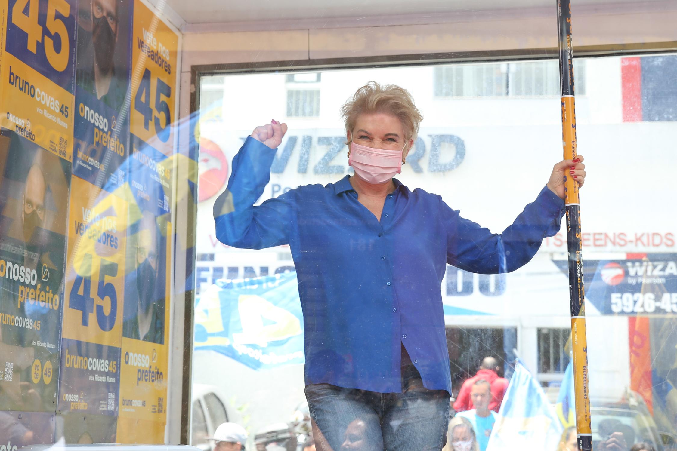 Marta Suplicy, em evento de Bruno Covas, na Zona Sul