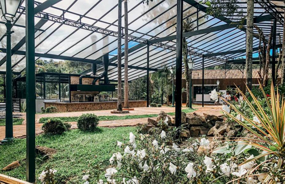 Área com mais de 3000 metros quadrados: na antiga Casa da Fazenda do Morumbi