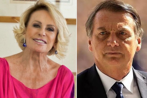 Ana Maria Braga e Jair Bolsonaro