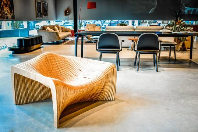 Poltrona Dunas: uma das criações do estúdio Mula Preta
