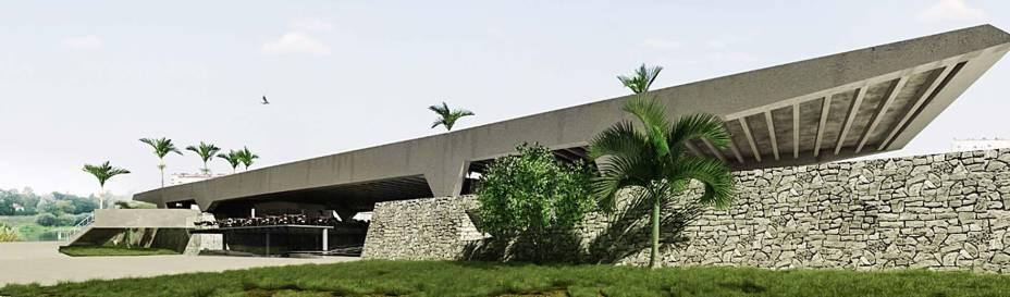 """Projeto do arquiteto Mauricio Xavier para o espaço abandonado: uso comercial foi proibido pelo zoneamento e pelo tombamento da área """"estritamente residencial"""""""