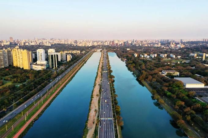 Rio Pinheiros paralelo raia usp