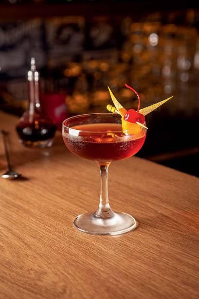 Cherry rum: rum, vermute e calda de cereja