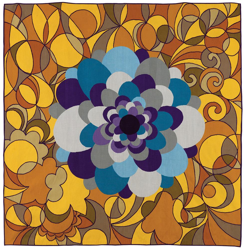 Carioca (2006): Única tapeçaria exibida, de 4 metros quadrados, combina rosáceas, ornamentos que estilizam pétalas de flores e eram bastante presentes na arquitetura gótica