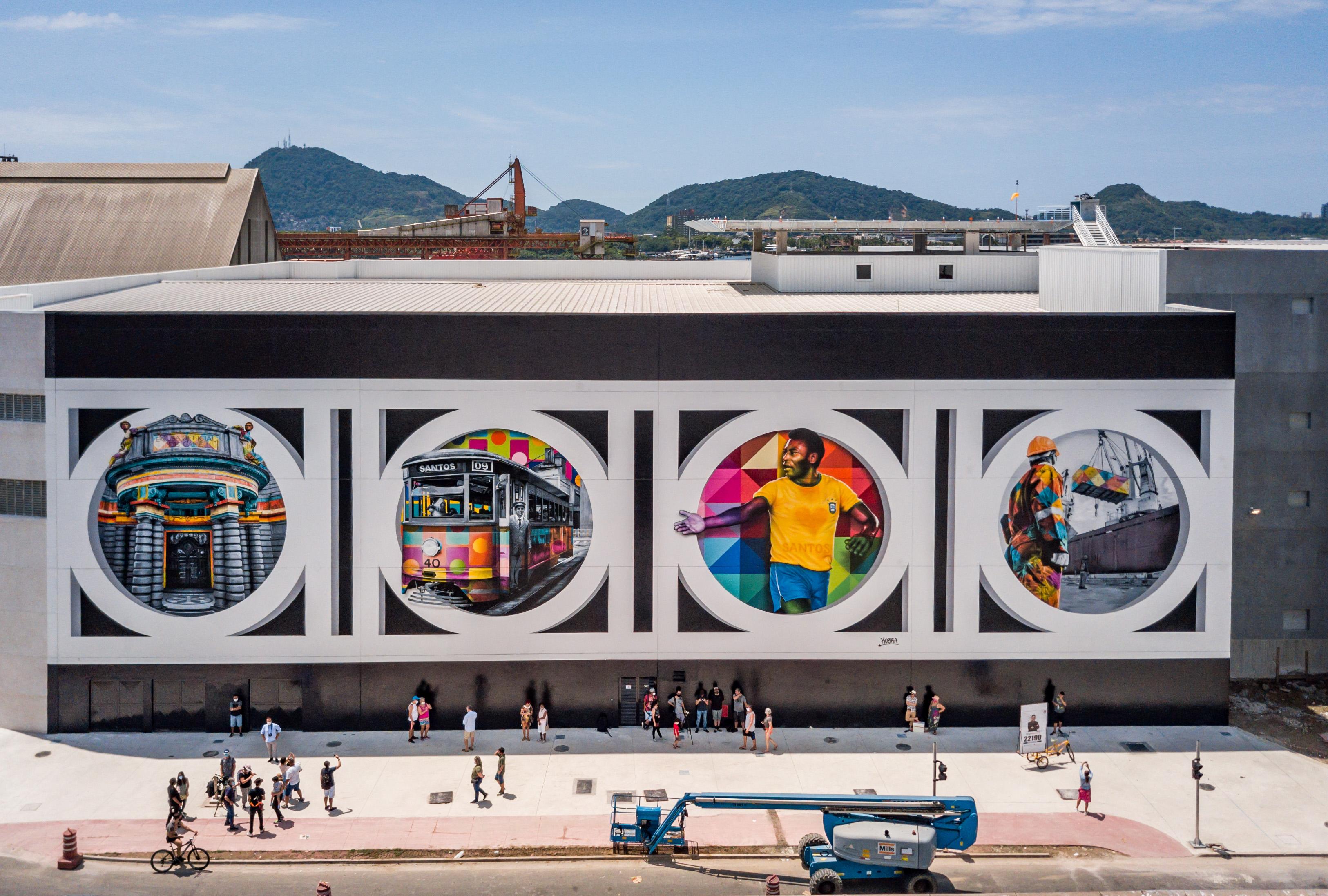 Eduardo Kobra - Mural Coração Santista (Martin Lima)