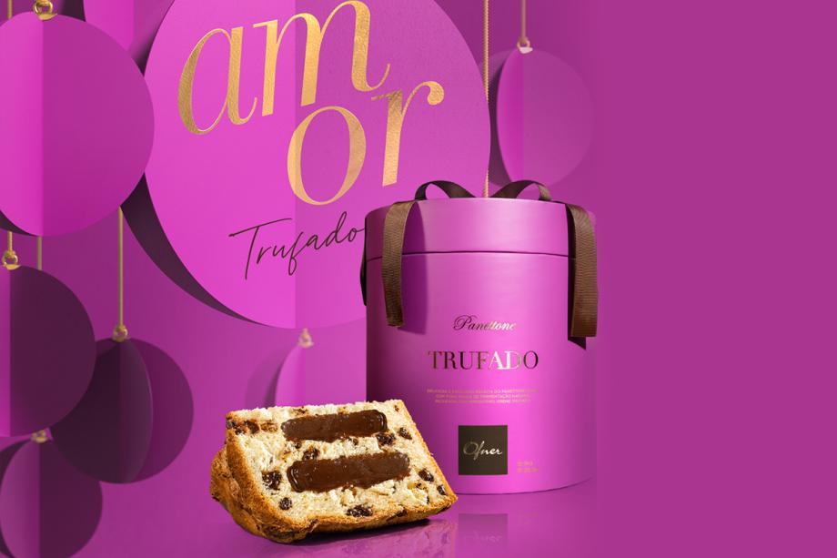 Amor: Panettone Trufado (1 kg) – Massa de fermentação natural, recheada com creme trufado. (R$ 99)
