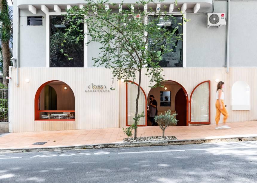 Kez Bagel & Café: fachada da unidade de Higienópolis