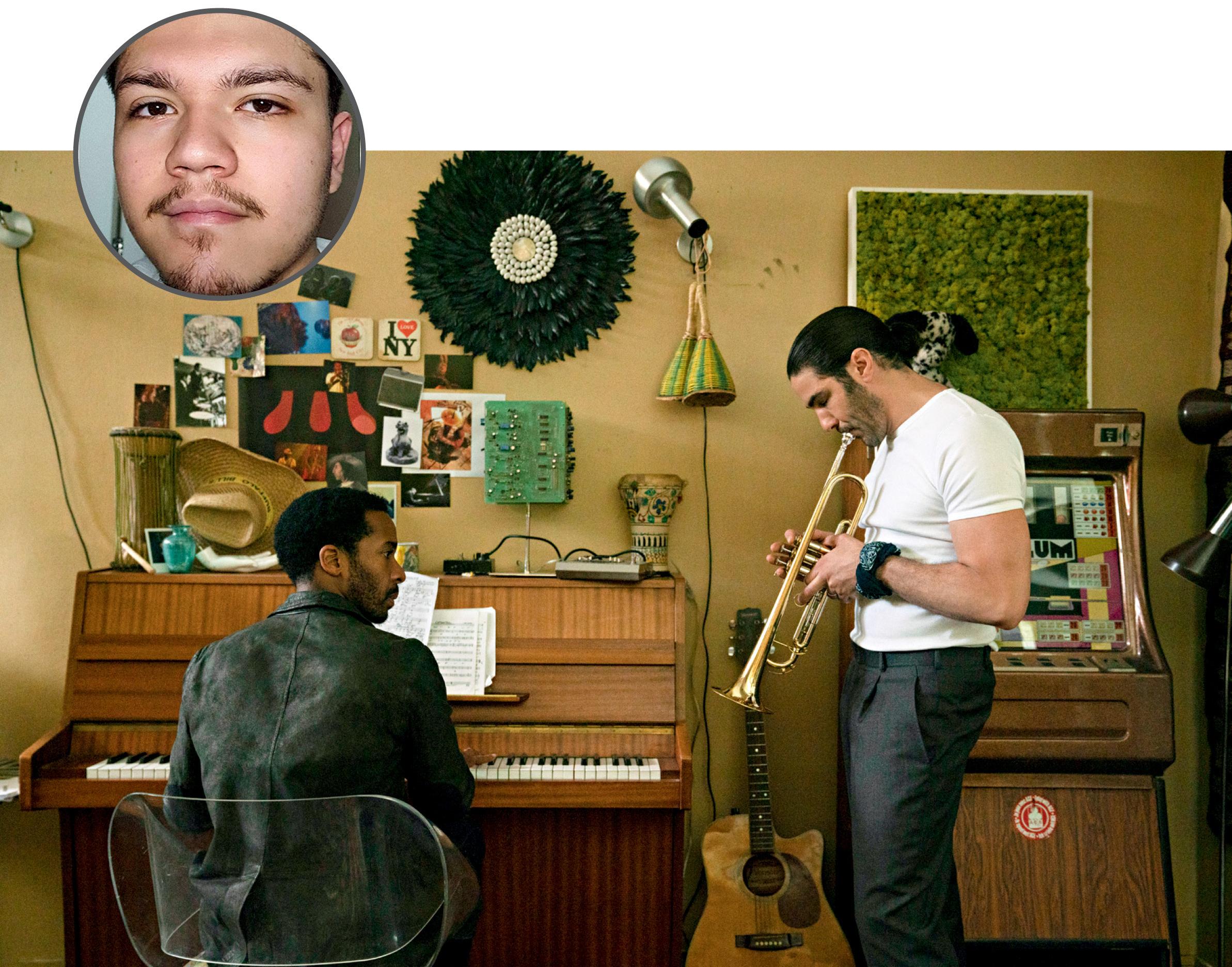 Foto de Guilherme com uma imagem ilustrativa da série The Eddy