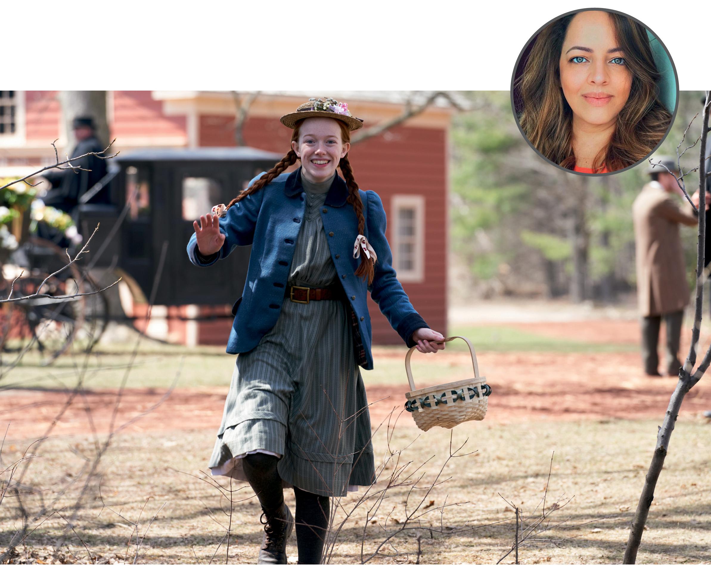 Foto de Juliana com uma imagem ilustrativa da série Anne with an E