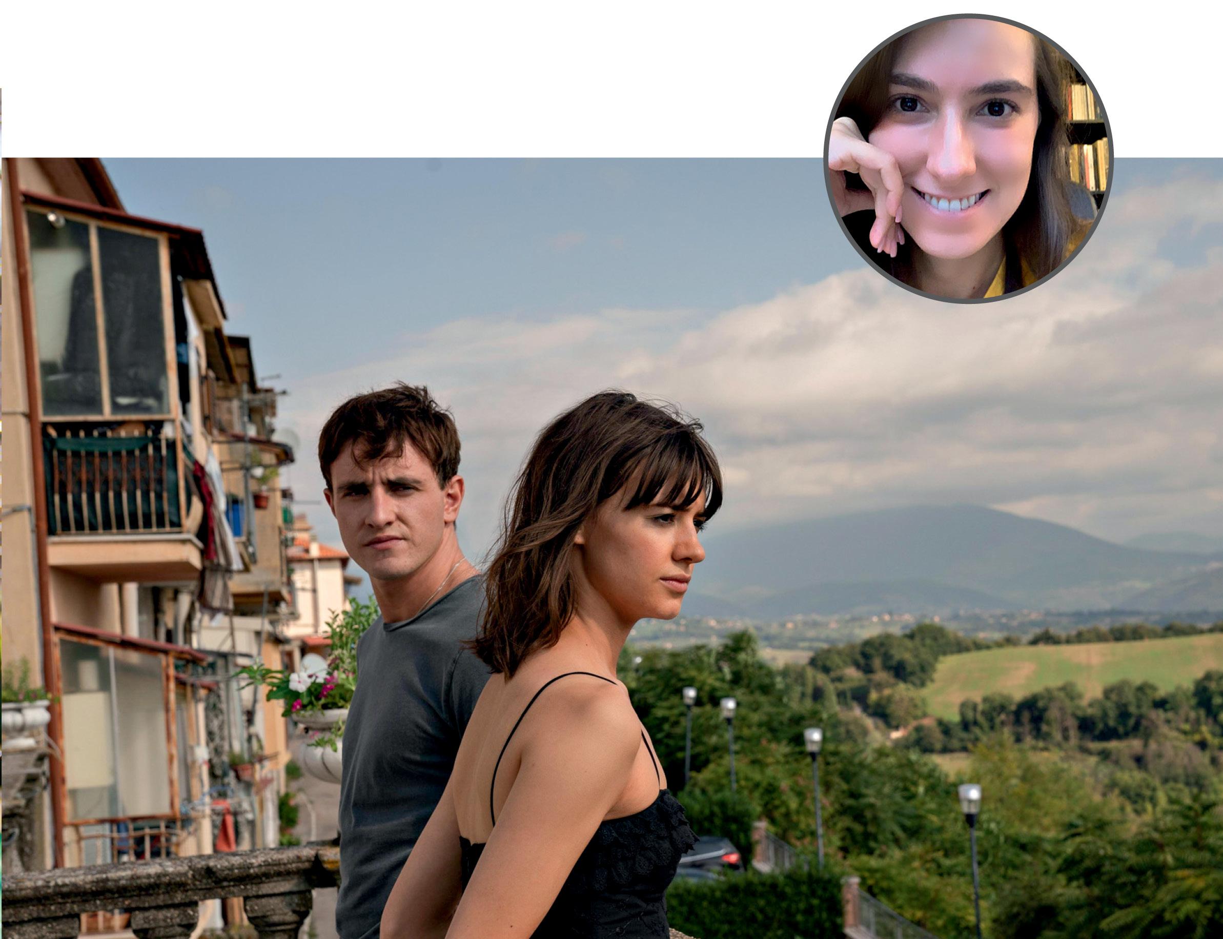 Foto de Juliene com uma imagem ilustrativa da série Normal People