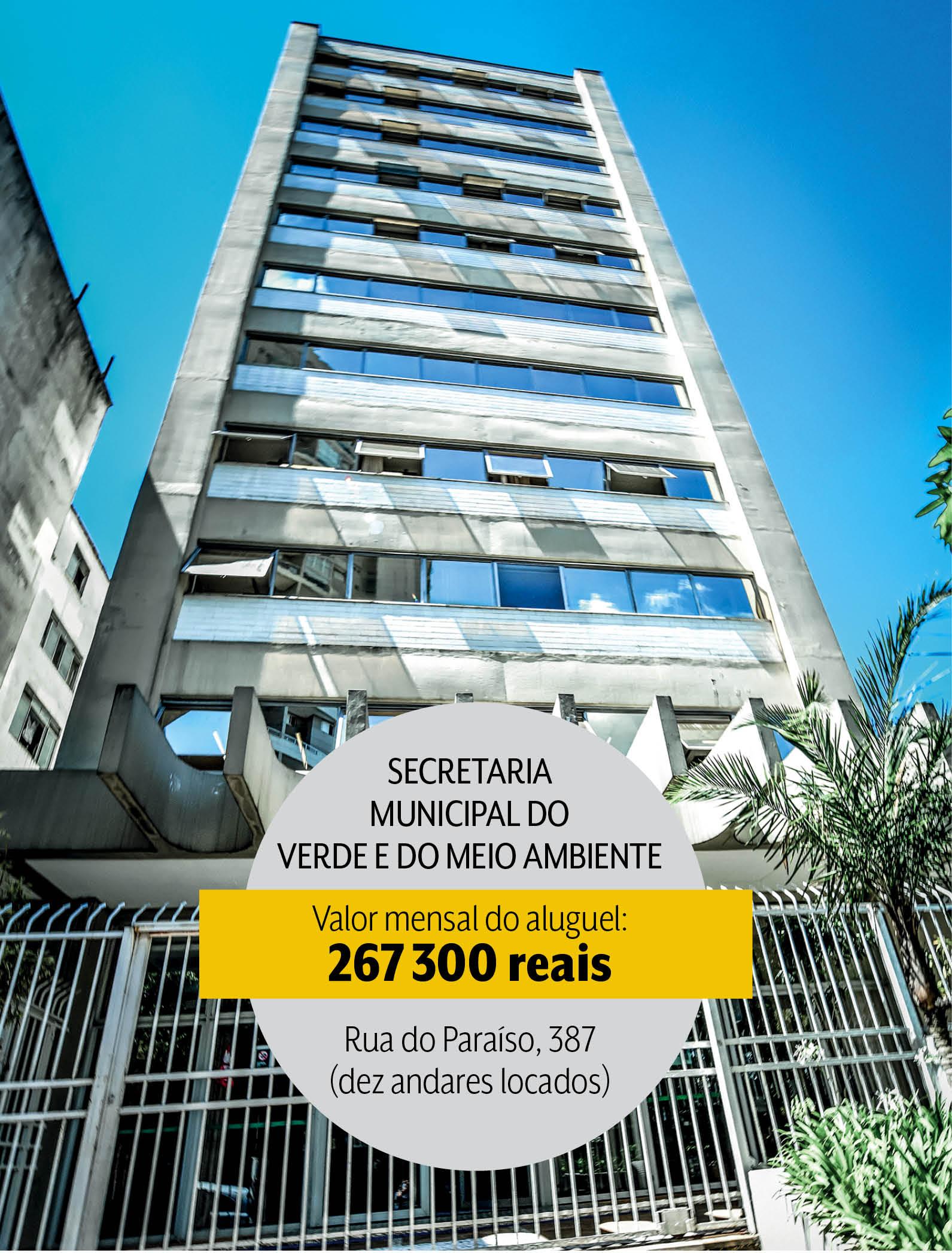 Secretaria Municipal do Verde: dez andares alocados