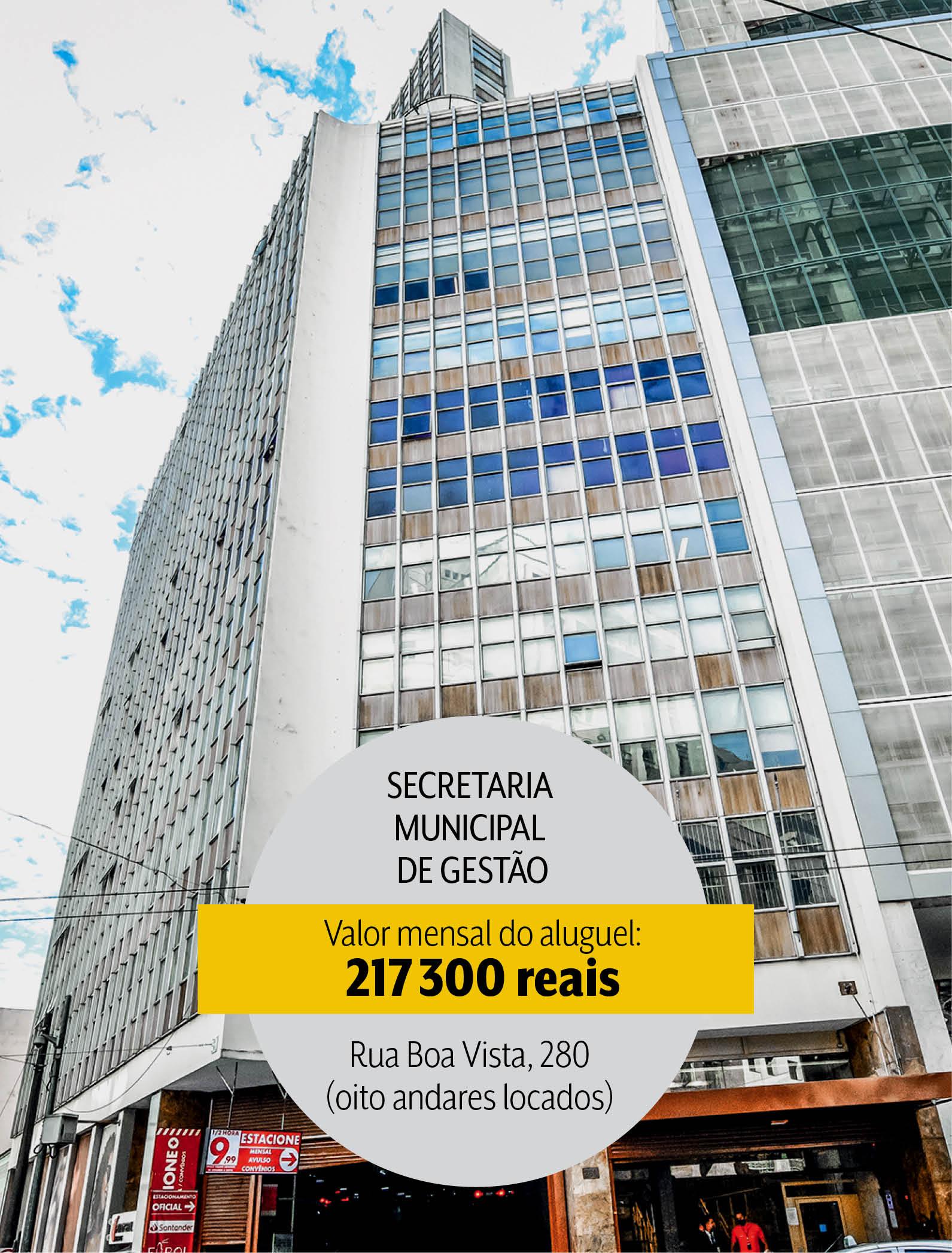 Secretaria Municipal de Gestão: oito andares alocados por mais de 200 mil reais