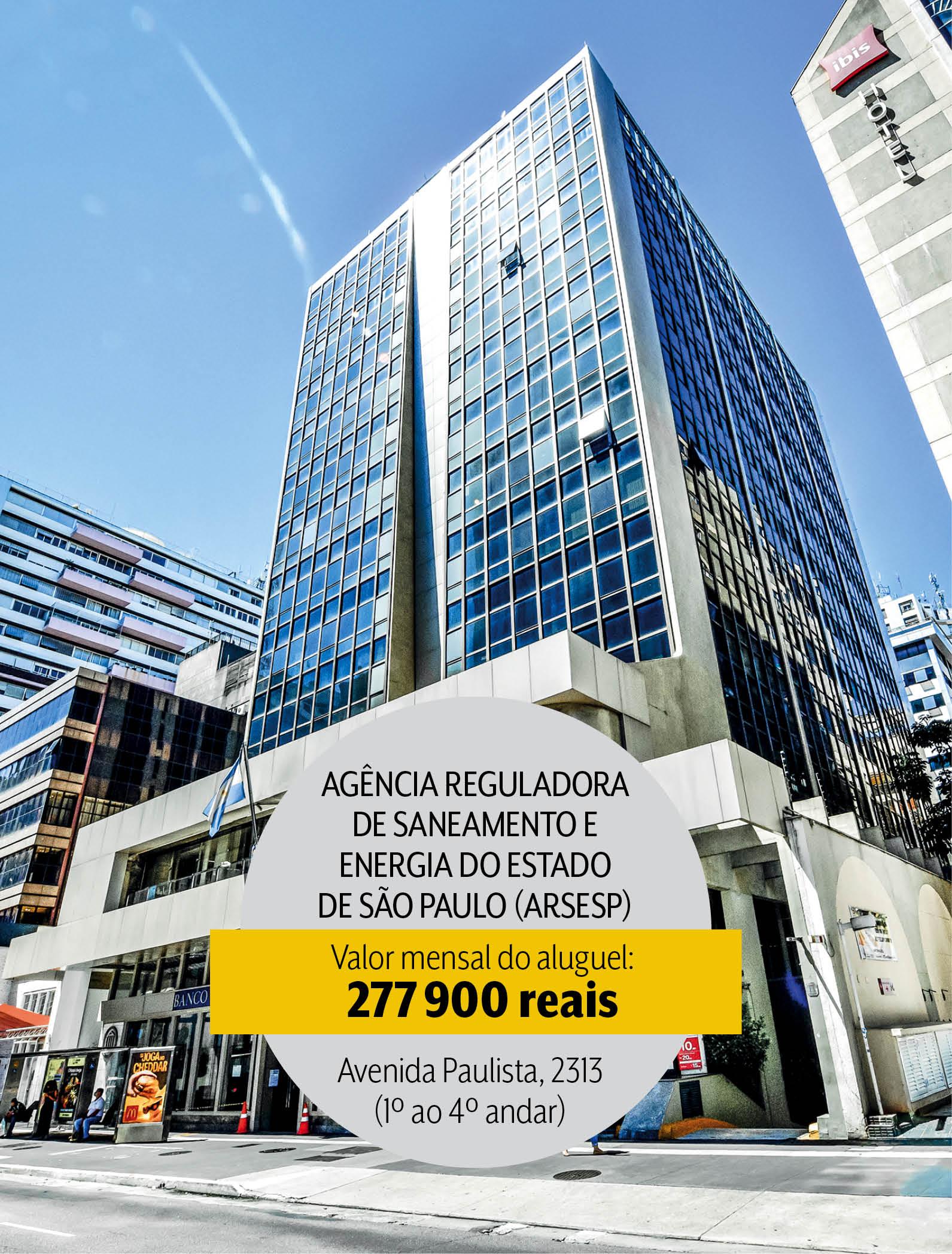 Sede da Arsesp na Avenida Paulista: mais de 200 mil em aluguel por mês