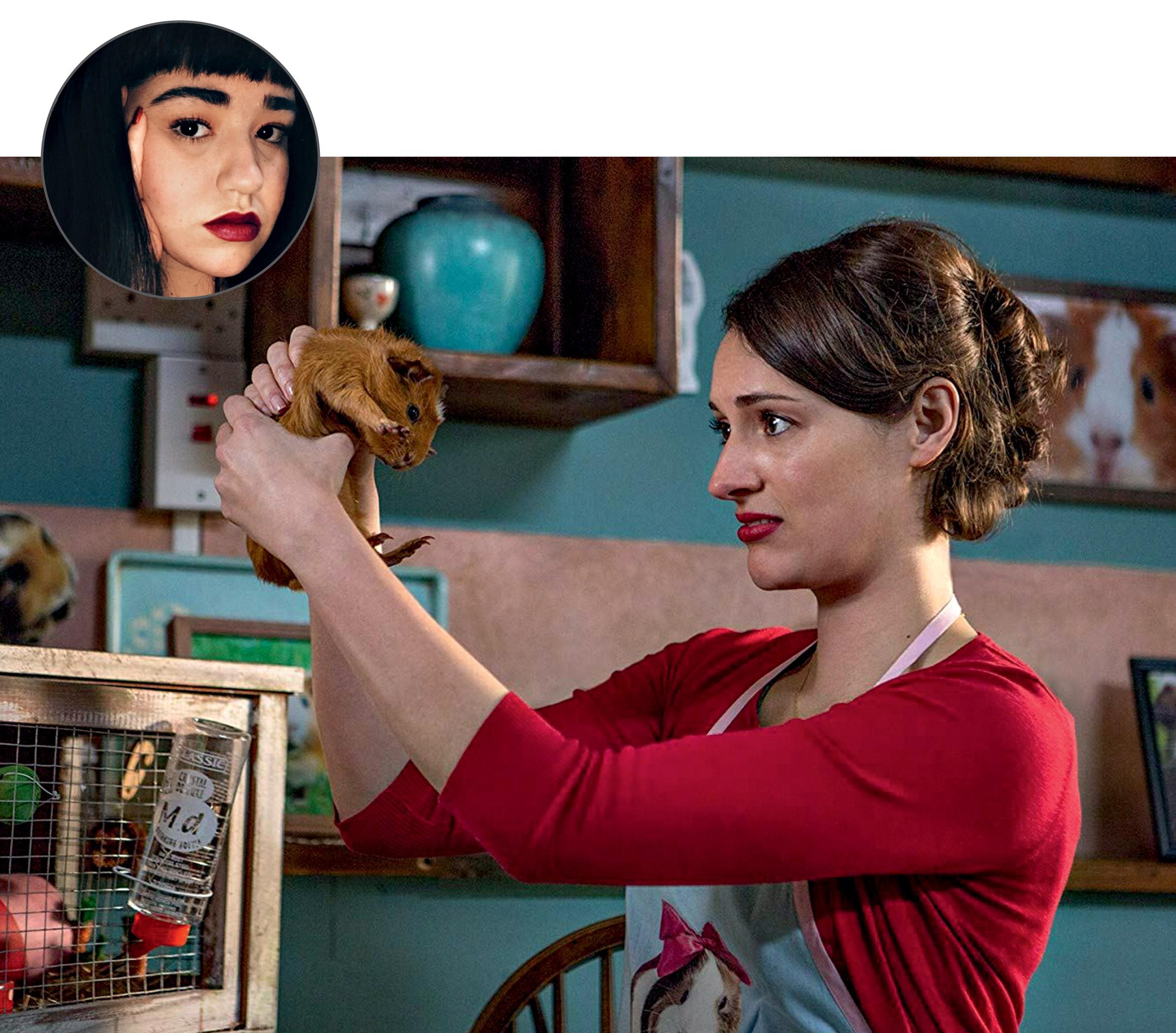 Foto de Mariani com uma imagem ilustrativa da série Fleabag