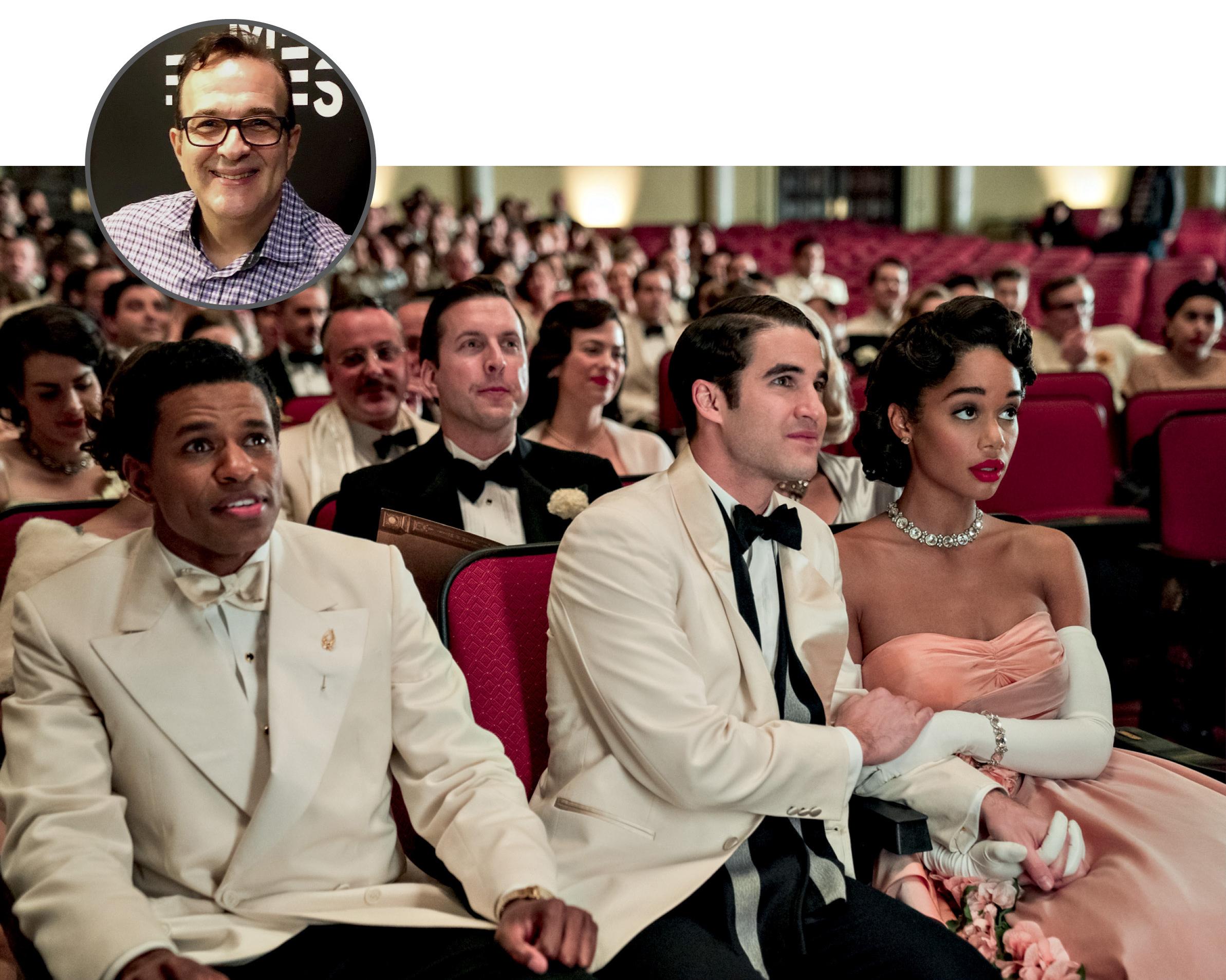 Foto de Miguel com uma imagem ilustrativa da série Hollywood
