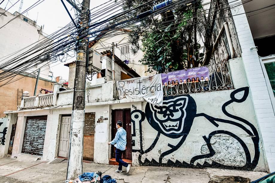Casarão abandonado na Rua Pamplona (abaixo): vendido pelo governo federal em novembro por 10,9 milhões de reais