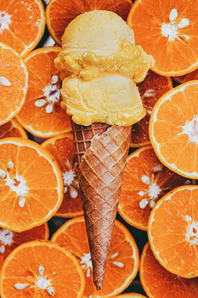 Pine Co.: sorvete refrescante de aperol spritz com laranja