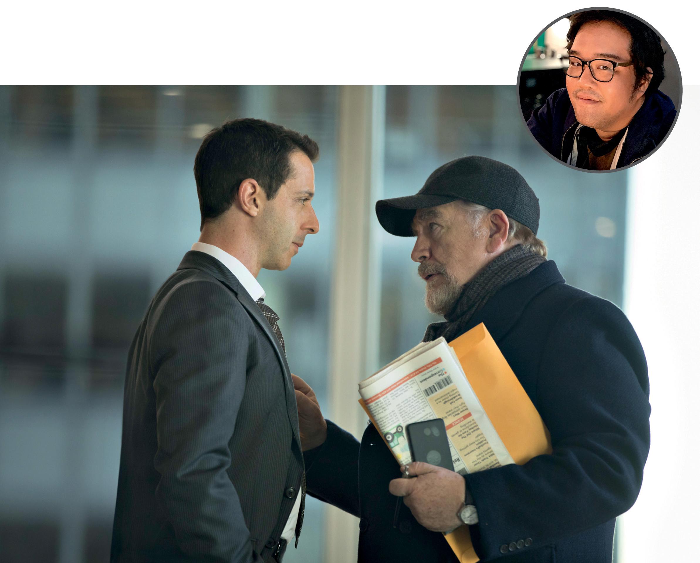 Foto de Saulo com uma imagem ilustrativa da série Succesion