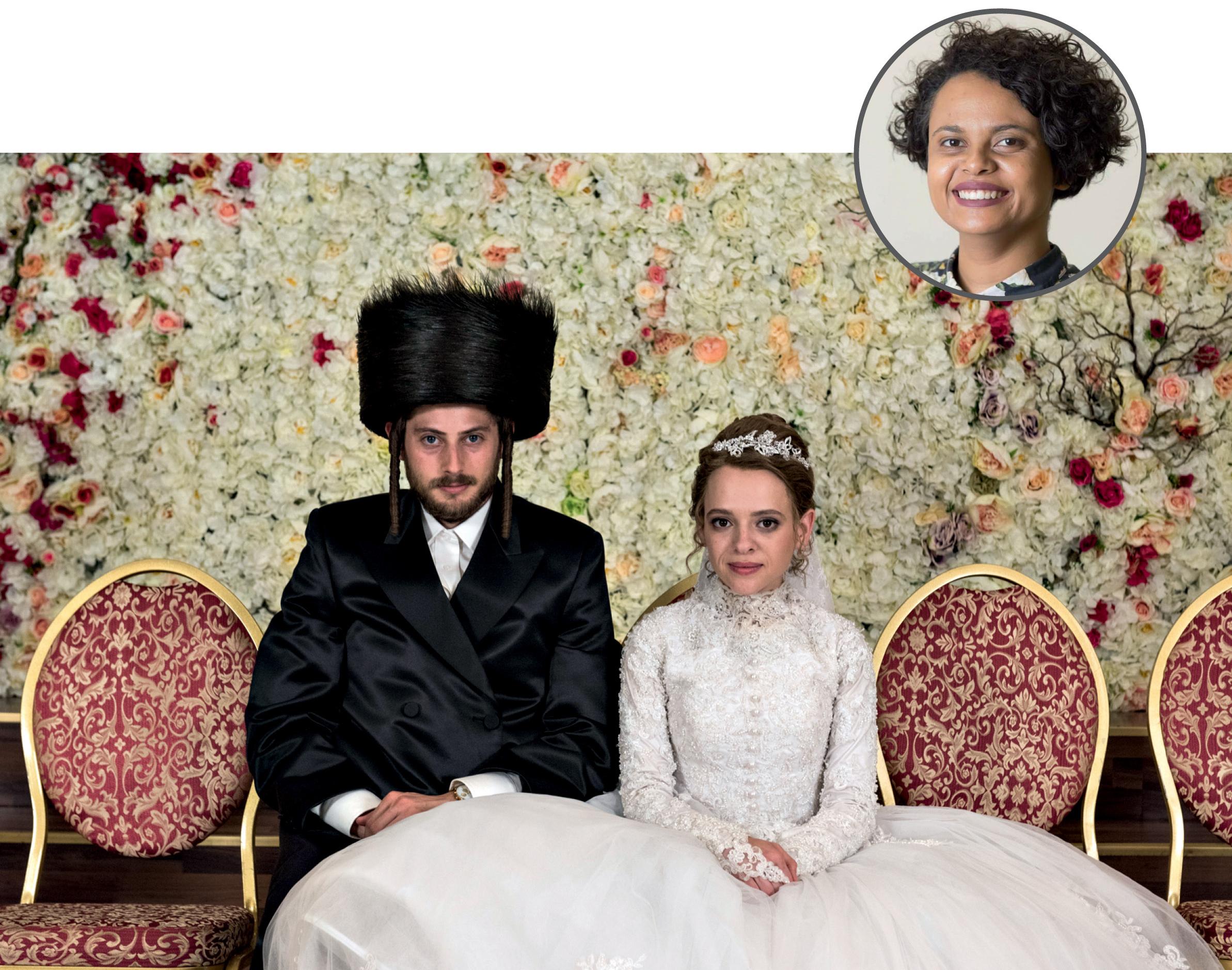 Foto de Tatiane com uma imagem ilustrativa da série Nada Ortodoxa