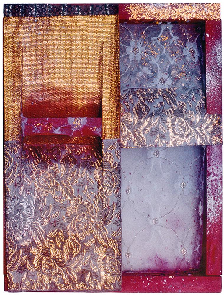 No princípio, eram os tecidos: obra sem título, de 1981, traz as iniciais da artista. Não faz parte da megaexposição.