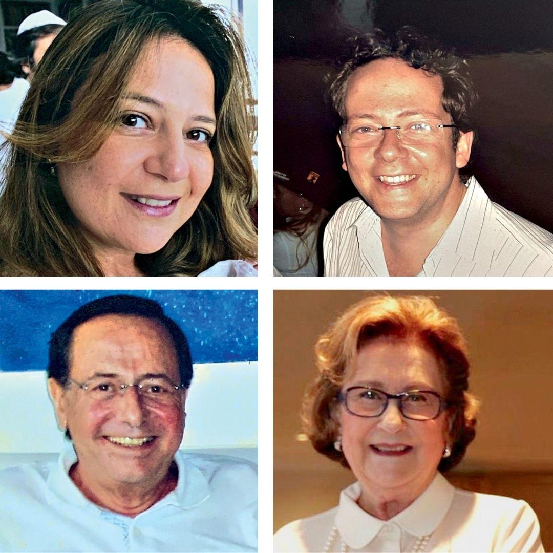 Quatro fotos de intregantes da famílai Haber
