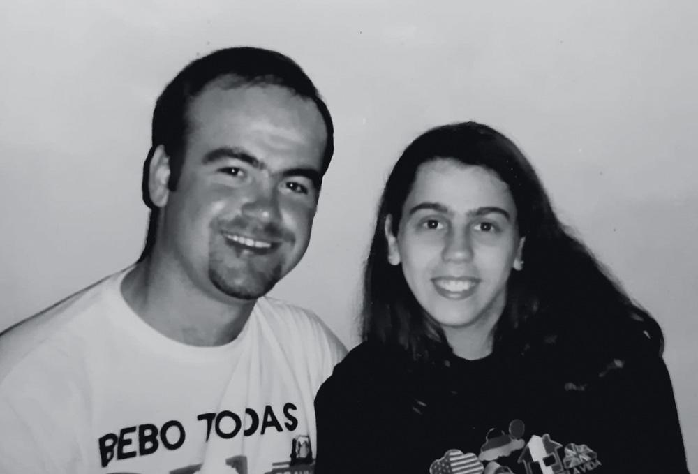 Primeiro ano de namoro, em 1991