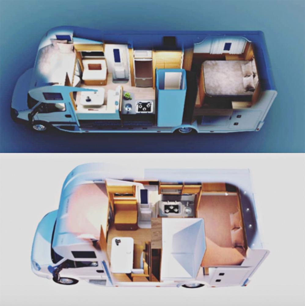 projetos motor homes