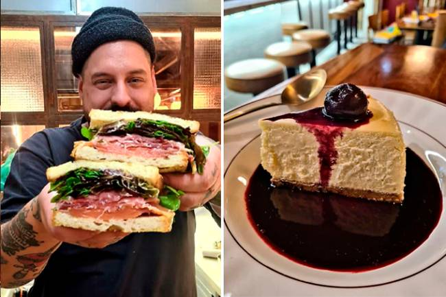 Holy Burger Porto - sanduíche e cheesecake