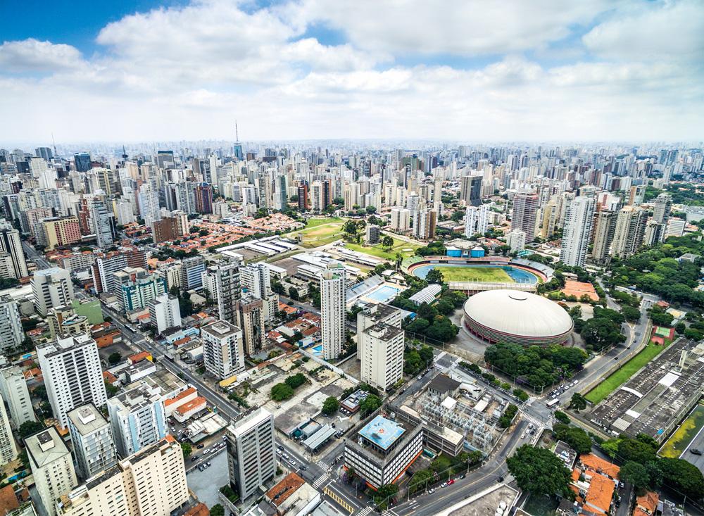 Imagem aérea da região do Ibirapuera