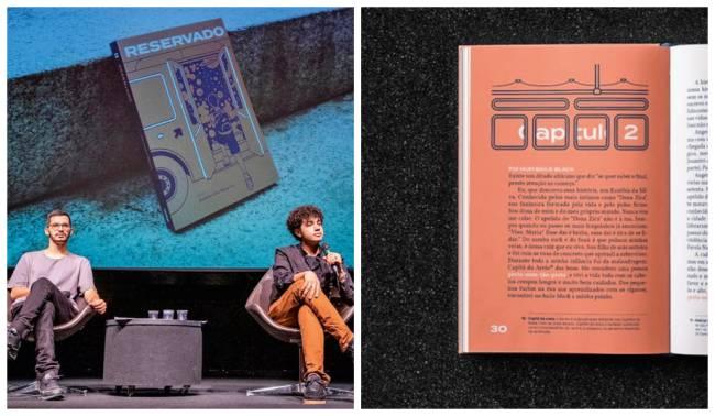 Lucas Rodrigues e o escritor Alexandre Ribeiro: lançamento do livro Reservado, de Ribeiro