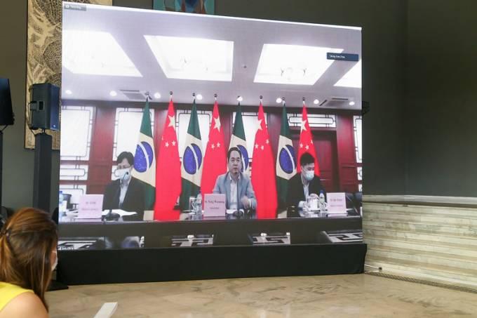Coletiva de imprensa com o governo de São Paulo e o embaixador da China no Brasil