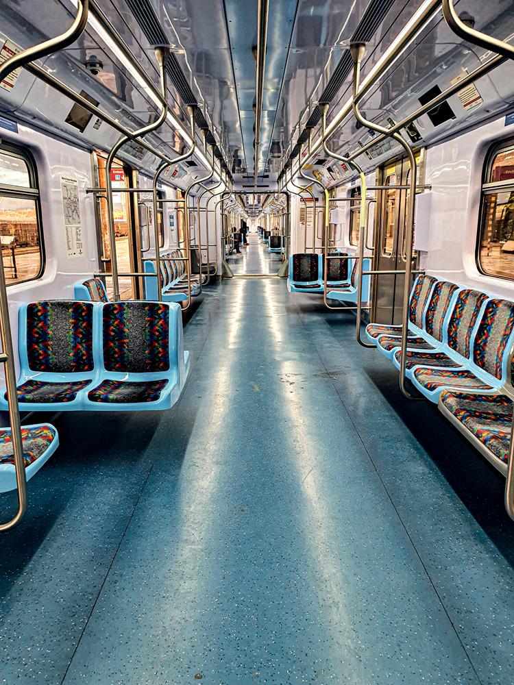 Vagões da Linha 7-Rubi: 99 milhões de pessoas em 2019