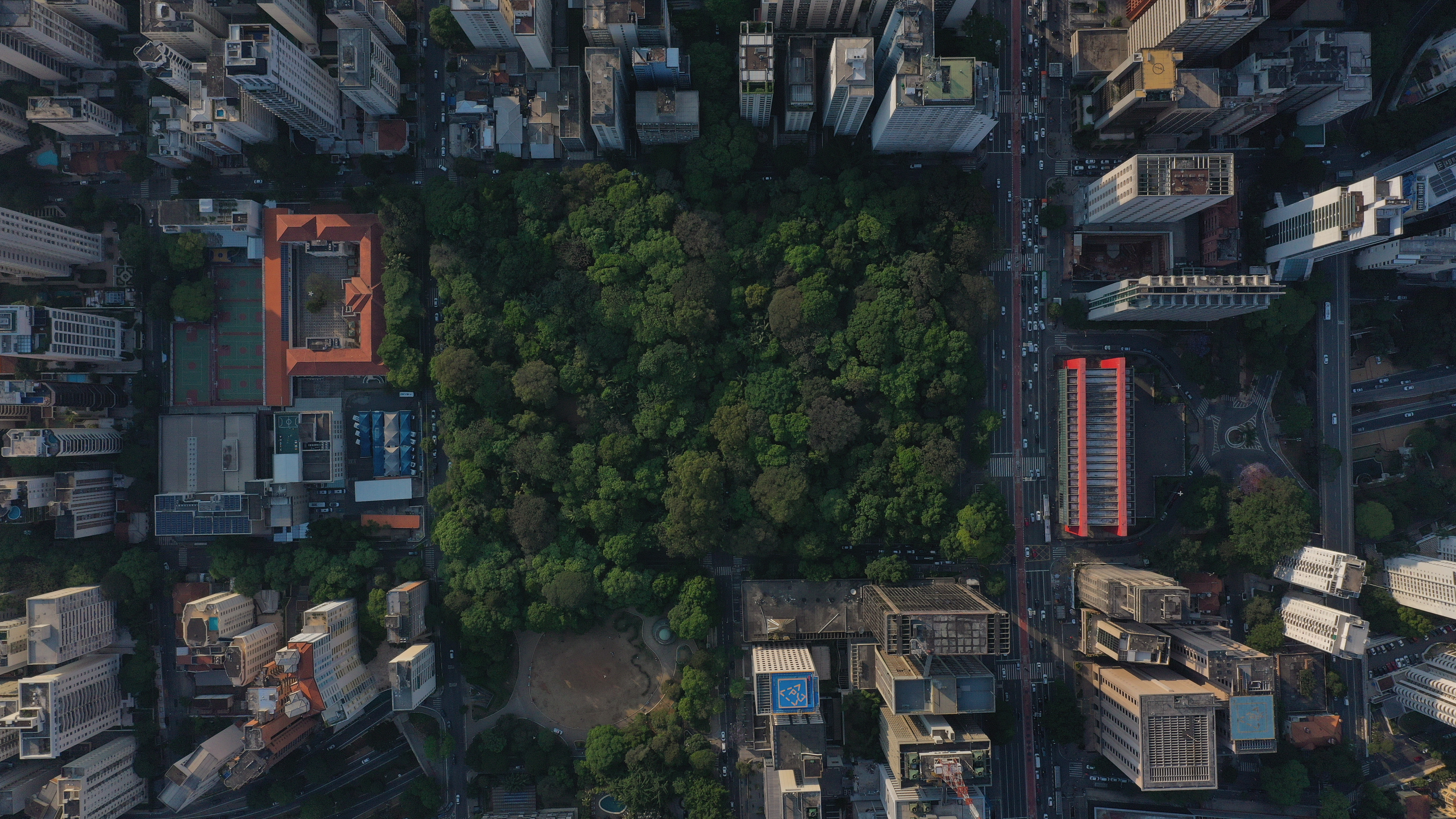 Visão aérea do Parque Trianon.