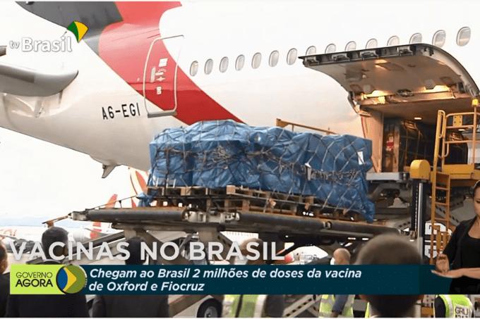 Vacinas da AstraZeneca chegam ao Brasil