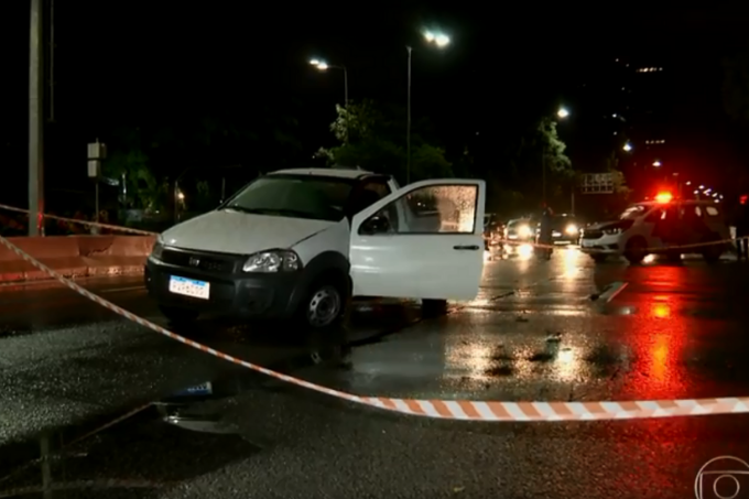 Motorista é baleado na cabeça na Marginal Pinheiros