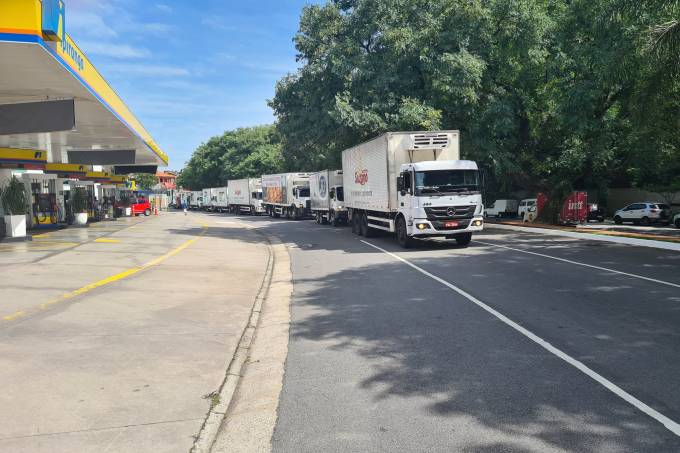 Caminhões protesto
