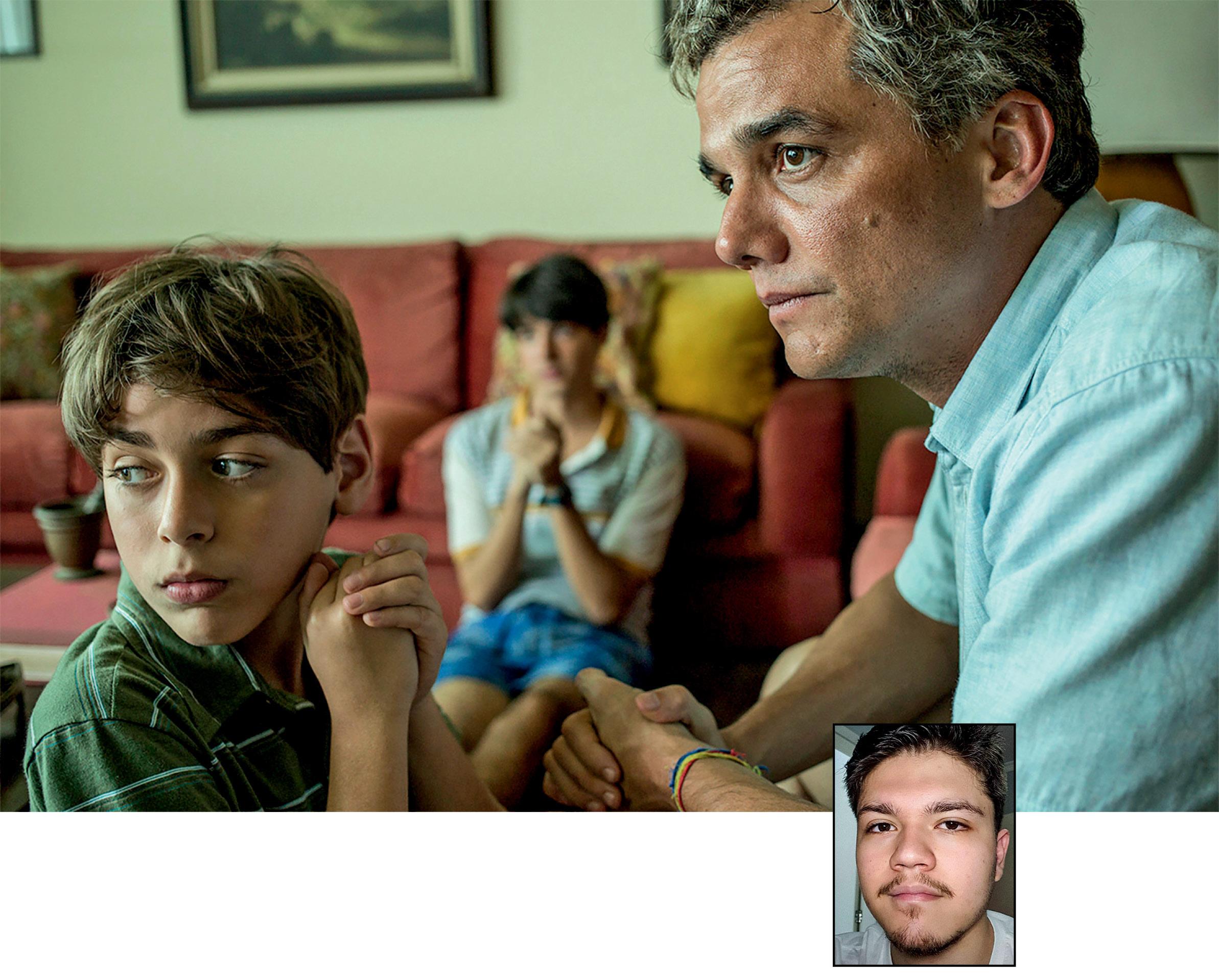 Foto ilustrando Sérgio e uma pequena foto de Guilherme