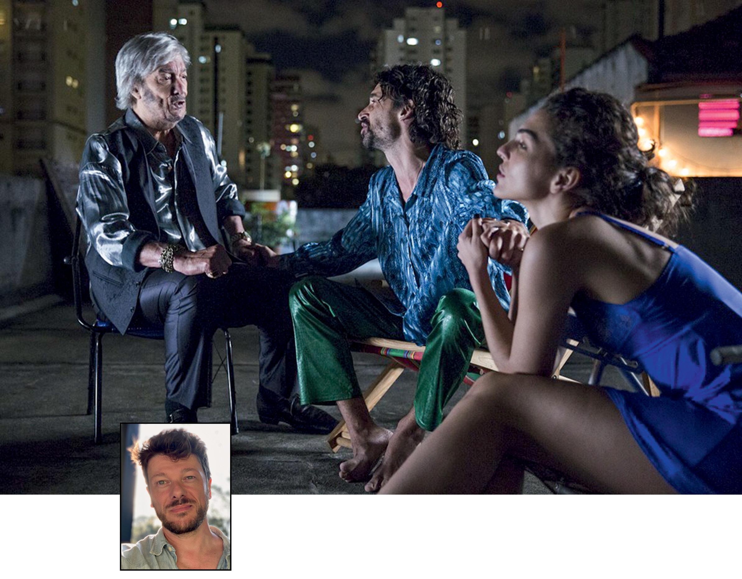 Foto ilustrando Paraíso Perdido e uma pequena foto de Marcelo